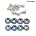 Bilde av 8 x M6x20 Stålbolter + skiver - Neo Chrome