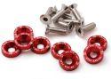Bilde av 8 x M6x20 Stålbolter + skiver - Rød