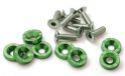Bilde av 8 x M6x20 Stålbolter + skiver - Grønn