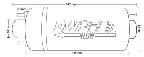 Bilde av DeatschWerks 250LPH In-Line External Fuel Pump (No Bracket)