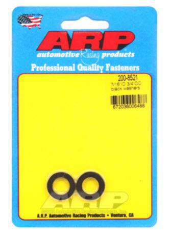 Bilde av ARP 7/16in ID 3/4inOD Black Washer (Pack of 2)
