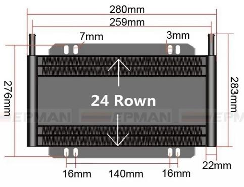 Bilde av Oljekjøler for automatisk girkasse - 24 rader