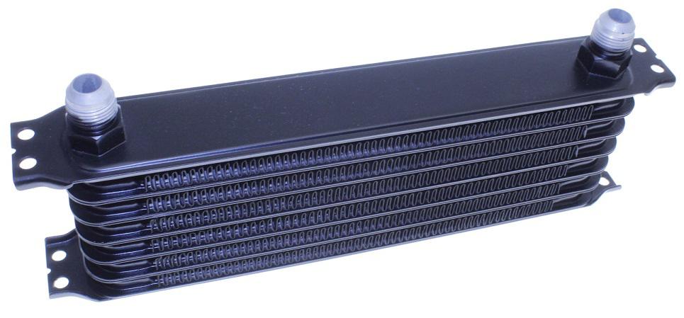 Bilde av Oljekjøleelement - 7 rader AN7-tilkobling - Svart